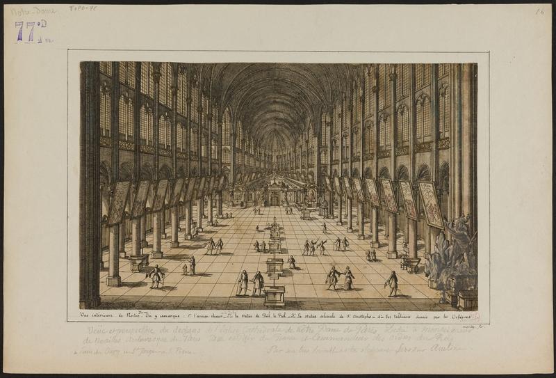 Autour de 1700 - vue intérieure de Notre-Dame