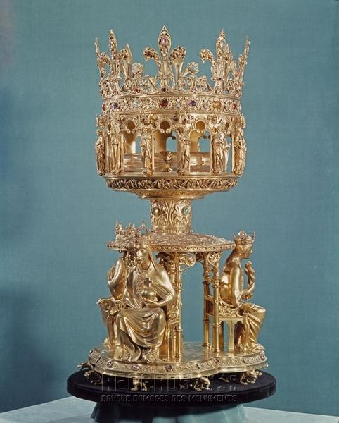 Reliquaire de la Couronne d'épines, 1862. © Jean Feuillie 1960 / Centre des monuments nationaux.