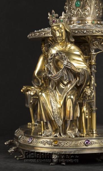 Reliquaire de la Couronne d'épines (détail), 1862. © Pascal Lemaître 2018 / Centre des monuments nationaux.