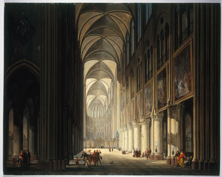 Vue intérieure de Notre-Dame en 1789