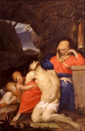 Tableau : Vierge de Pitié ou Pieta ou Le Christ mort sur les genoux de la Vierge