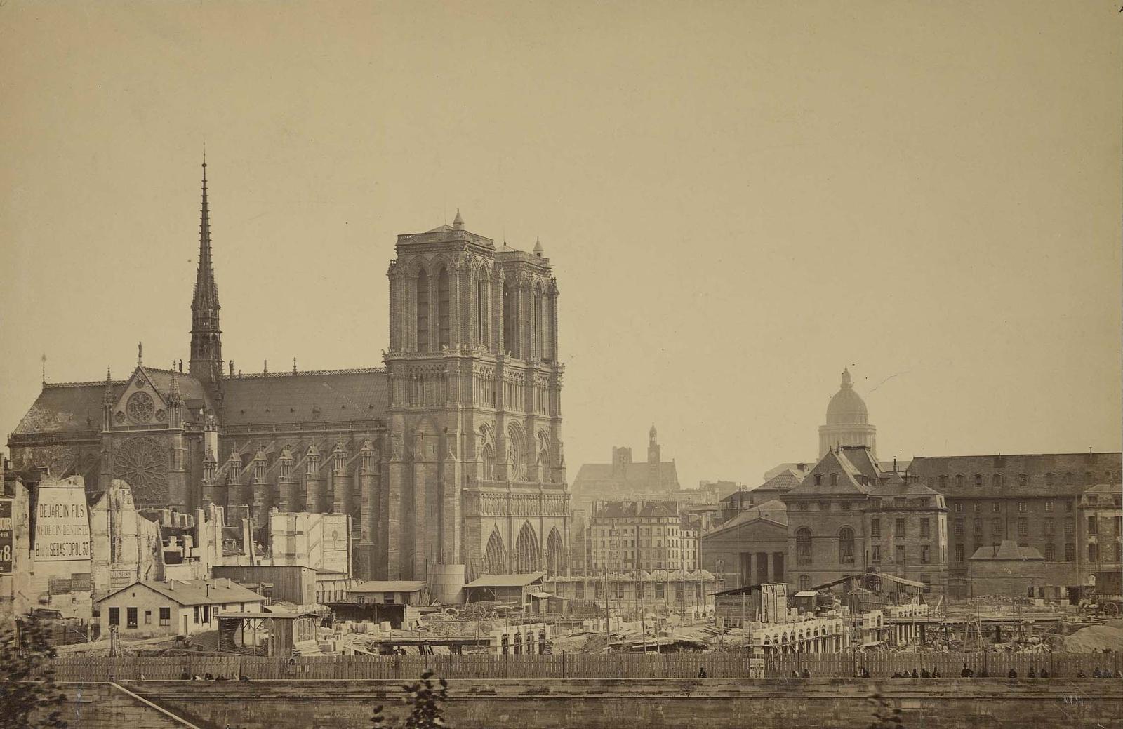 Photographie de la cathédrale Notre-Dame de Paris - Collard 1867-1878