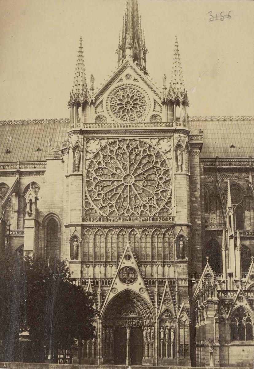Photographie de la cathédrale Notre-Dame de Paris - Lampué vers 1880