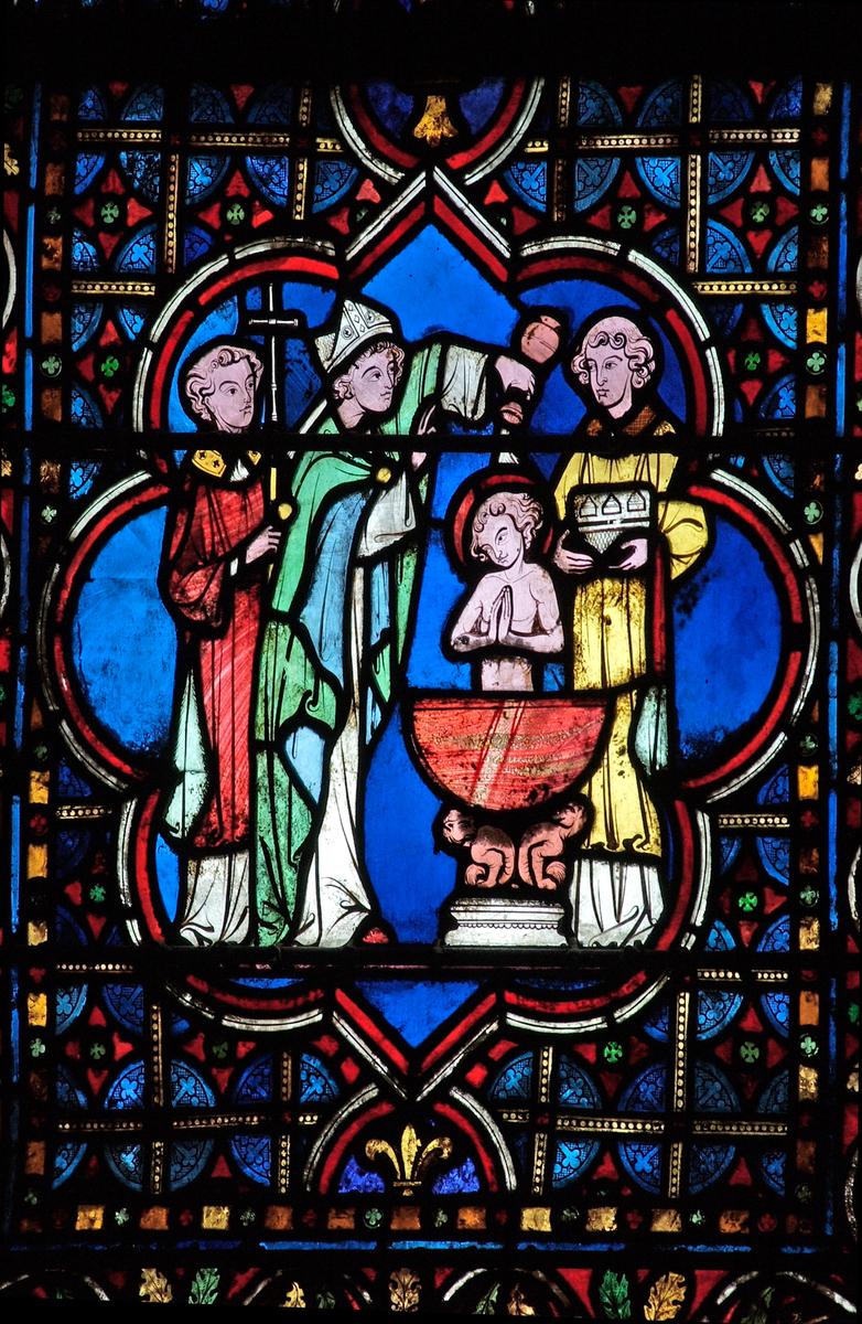 Vitrail de la vie de saint Louis