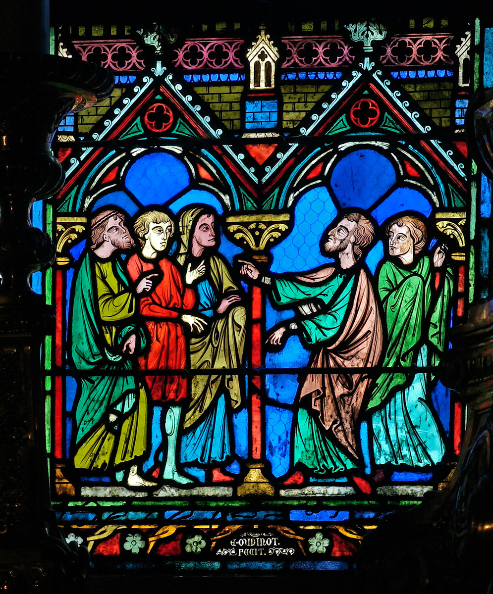 Vitrail de la vie de saint Etienne à Notre-Dame