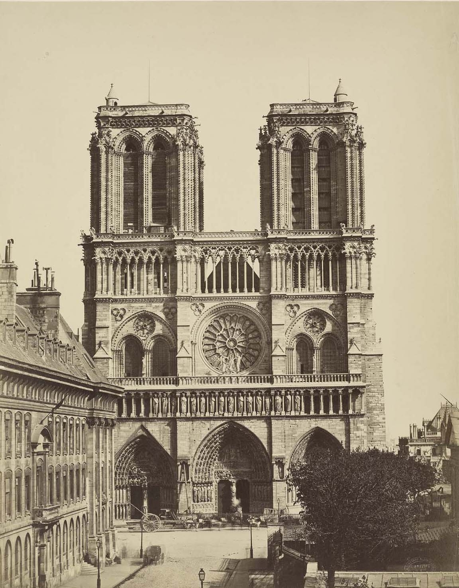 Photographie de la cathédrale Notre-Dame de Paris - Bisson